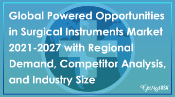 Global Powered Opportunities in Surgical Instruments Market 2021-2027 with Regional Demand, Competitor Analysis, and Industry Size